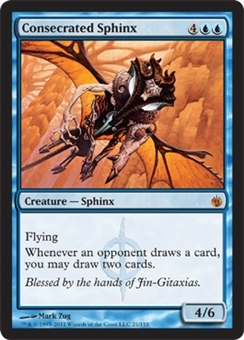 Magic the Gathering Mirrodin Besieged Single Consecrated Sphinx FOIL NEAR MINT