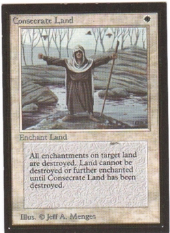 Magic the Gathering Beta CE Single Consecrate Land - SLIGHT PLAY (SP)