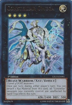 Yu-Gi-Oh Lord Tachyon Galaxy Single Constellar Omega Ultra Rare