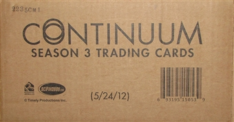 Continuum Season 3 Trading Cards 12-Box Case (Rittenhouse 2015)