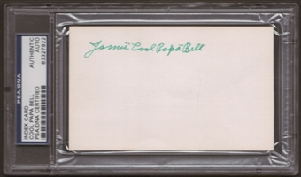 "Jamie ""Cool Papa"" Bell Autograph (Index Card) PSA/DNA Certified *7922"