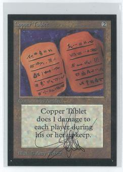 Magic the Gathering Beta Artist Proof Copper Tablet - SIGNED AND ALTERED BY AMY WEBER