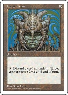 Magic the Gathering 4th Edition Single Coral Helm - NEAR MINT (NM)