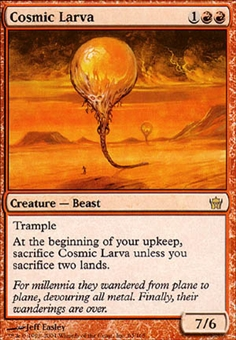 Magic the Gathering Fifth Dawn Single Cosmic Larva - NEAR MINT (NM)