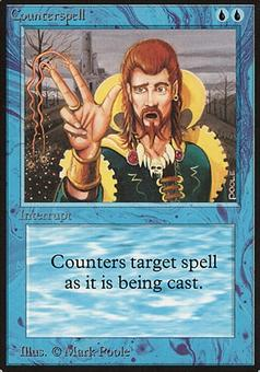 Magic the Gathering Beta Single Counterspell - MODERATE PLAY (MP)