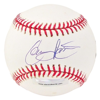 Colby Rasmus Autographed Baseball (Slightly Stained) (DACW COA)