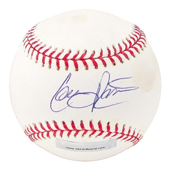 Colby Rasmus Autographed Baseball (Stained) (DACW COA)