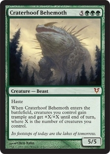 Magic the Gathering Avacyn Restored Single Craterhoof Behemoth UNPLAYED (NM/MT)