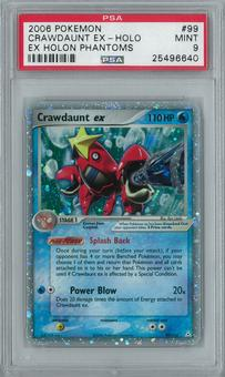 Pokemon EX Holon Phantoms Crawdaunt EX 99/110 Holo Rare PSA 9