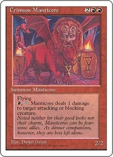 Magic the Gathering 4th Edition Single Crimson Manticore - NEAR MINT (NM)