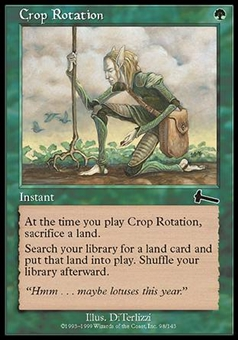 Magic the Gathering Urza's Legacy Single Crop Rotation Foil NEAR MINT (NM)