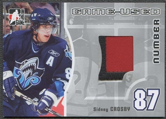 2005/06 In The Game Hockey Sidney Crosby Rookie 3 Color Patch #/30