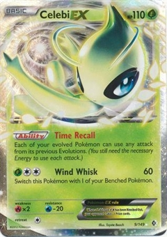 Pokemon Plasma Storm Single Celebi EX 9/149