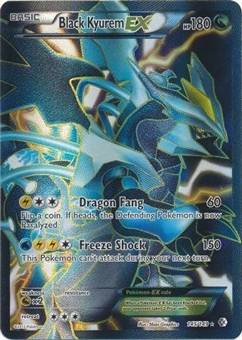 Pokemon Plasma Storm Single Black Kyurem EX 145/149 FULL ART- NEAR MINT (NM)