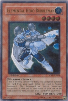 Yu-Gi-Oh Cybernetic Revolution Single Elemental Hero Bubbleman Ultimate Rare - MODERATE PLAY (MP)