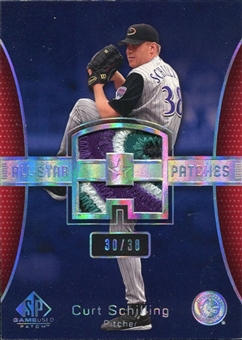 2004 SP Game Used Patch All-Star Number #CS1 Curt Schilling Diamondbacks 30/38