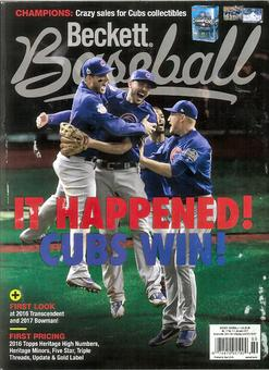 2017 Beckett Baseball Monthly Price Guide (#130 Janruary) (CUBS WIN!)