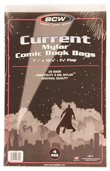 Current Age Comic Book Mylar Bags 4 Mil 25ct.