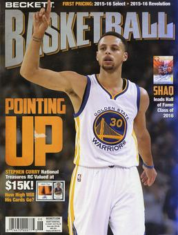 2016 Beckett Basketball Monthly Price Guide (#285 June) (Stephen Curry)