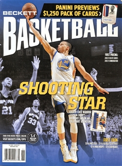 2013 Beckett Basketball Monthly Price Guide (#254 November) (Curry)