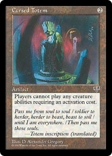 Magic the Gathering Mirage Single Cursed Totem - NEAR MINT (NM)