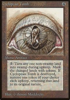 Magic the Gathering Beta Single Cyclopean Tomb - MODERATE PLAY (MP)