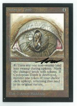 Magic the Gathering Beta Artist Proof Cyclopean Tomb - SIGNED BY ANSON MADDOCKS