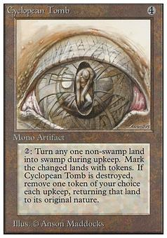 Magic the Gathering Unlimited Single Cyclopean Tomb - MODERATE PLAY (MP)