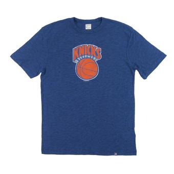 New York Knicks Majestic Blue Hours and Hours Dual Blend Tee Shirt (Adult XXL)