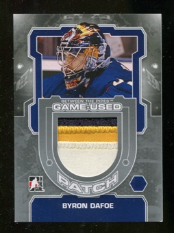 2012/13 In the Game Between The Pipes Jerseys Patch Silver #M16 Byron Dafoe /19