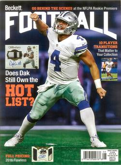 2017 Beckett Football Monthly Price Guide (#319 August) (Dak Prescott)