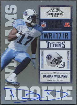 2010 Playoff Contenders #208B Damian Williams /412 White Jersey Rookie Autograph