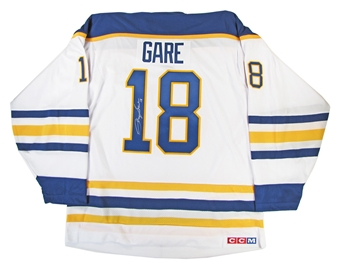 Danny Gare Autographed Buffalo Sabres White Throwback Jersey