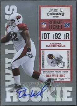 2010 Playoff Contenders #120 Dan Williams Rookie Autograph