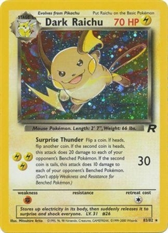 Pokemon Team Rocket Single Dark Raichu - MODERATE PLAY (MP)