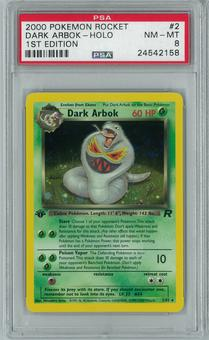Pokemon Team Rocket 1st edition Dark Arbok 2/82 Holo Rare PSA 8