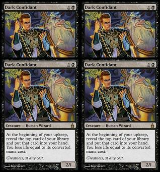 Magic the Gathering Ravnica PLAYSET Dark Confidant FOIL - NEAR MINT (NM)