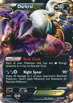 Pokemon Dark Explorers Single Darkrai EX 63/108 - NEAR MINT (NM)