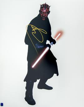 Ray Park Autographed Darth Maul 16x20 Star Wars Photo