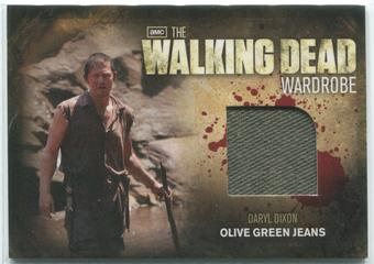 2012 The Walking Dead #M27 Norman Reedus as Daryl Dixon Olive Green Jeans Wardrobe Memorabilia