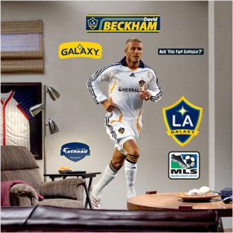 David Beckham L.A. Galaxy Fathead Life Sized Wall Graphic