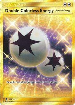 Pokemon Guardians Rising Single Double Colorless Energy Secret Rare 166/145 - SLIGHT PLAY (SP)