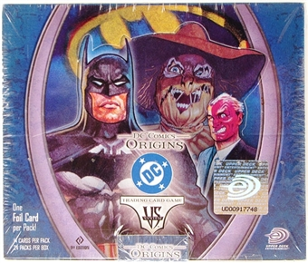 Vs System DC Comics Origins 1st Edition Booster Box