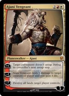 Magic the Gathering Duel Deck Single Ajani Vengeant Foil