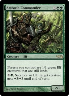 Magic the Gathering Duel Deck Single Ambush Commander Foil