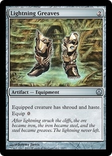 Magic the Gathering Duel Deck Single Lightning Greaves - NEAR MINT (NM)
