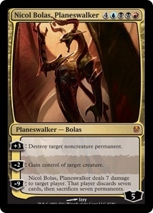 Magic the Gathering Duel Deck Single Nicol Bolas, Planeswalker Foil