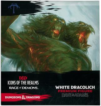 Dungeons & Dragons Icons of the Realms: Rage of Demons White Dracolich Figure