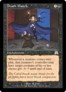 Magic the Gathering Onslaught Single Death Match UNPLAYED (NM/MT)