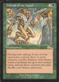 Magic the Gathering Urza's Legacy Single Defense of the Heart LIGHT PLAY (NM)